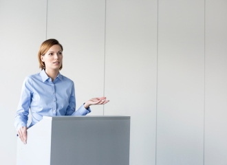 woman giving a kickarse presentation